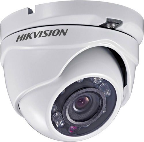 câmera dome ip66 hd 720p 1mp ir 20 mts 3.6mm hikvision cftv
