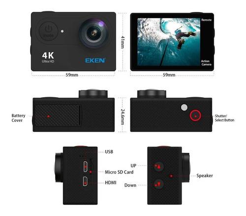 câmera eken h9r 4k original wifi + bateria extra promoção