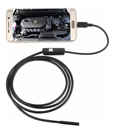 câmera endoscópio 2 metros / 6 leds / 7 mm usb android