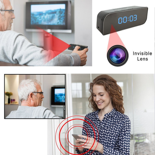 câmera espiã relógio