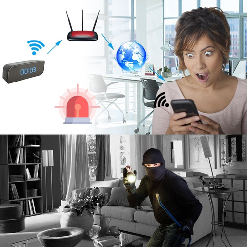 câmera espiã relógio  android iphone wifi ip visão noturna