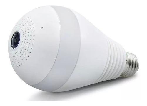 câmera espia ip lampada segurança v380 panorâmica wifi 360º