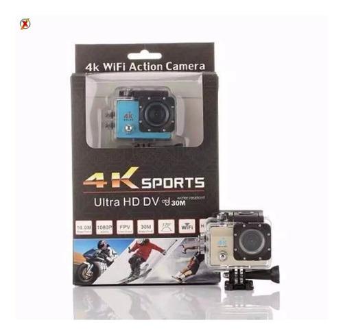 câmera esporte full hd 4k 16mp com wifi prova d'água action