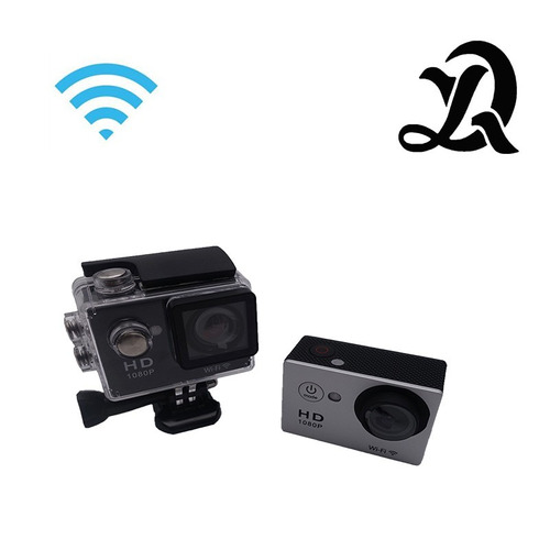 câmera esportes wifi remoto 1080p hd prova d´água