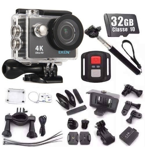 câmera esportiva eken h9r original 4k 32gb bastao wifi hd