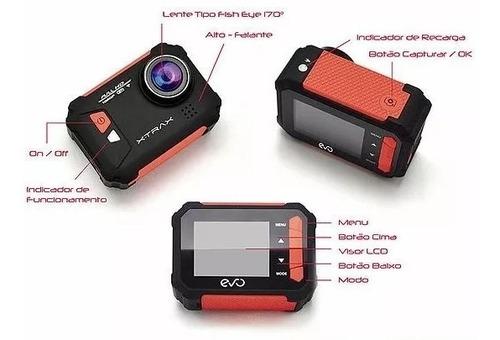 câmera esportiva xtrax evo full hd 1080p wifi