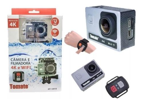 câmera filmadora digital tomate 4k wifi mt-1091 c/ controle
