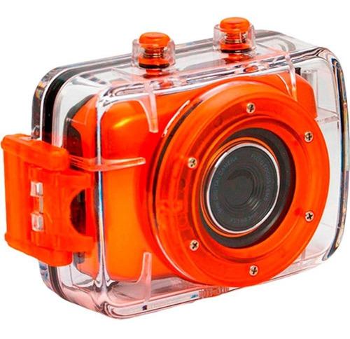 câmera filmadora vivitar modelo dvr783 hd - laranja