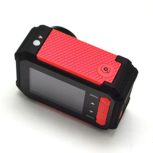 câmera filmadora xtrax evo preta/vermelha 16.1mp lcd 2,7