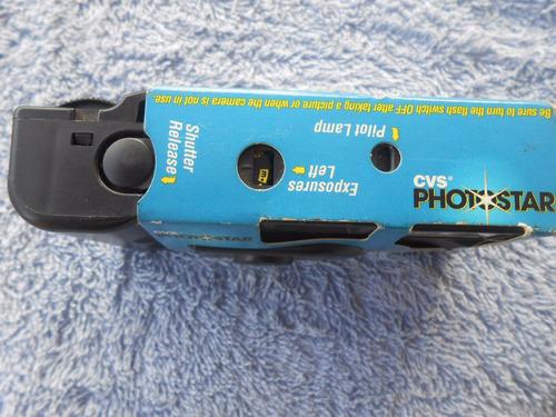 câmera fotográfica antiga importada cvs photostar 27 exp