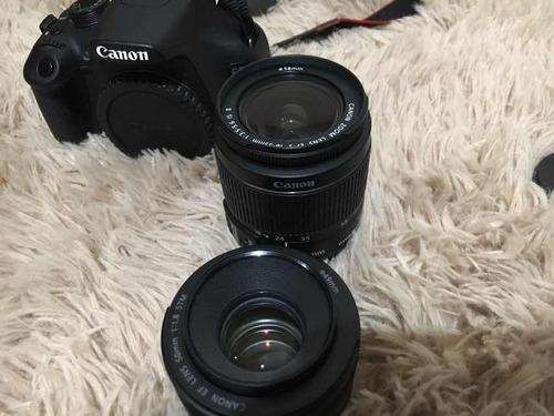 câmera fotográfica canon t5 com lentes