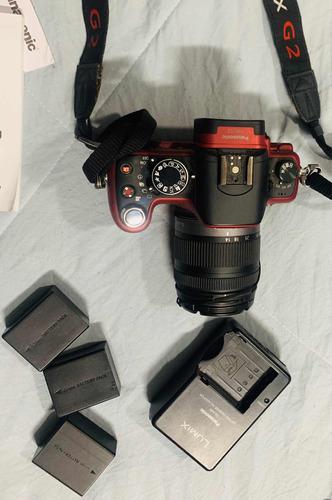 câmera fotográfica digital panasonic lumix g2 com 3 baterias