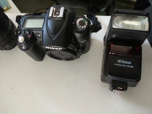 câmera fotográfica nikon d90 + lentes e acessórios