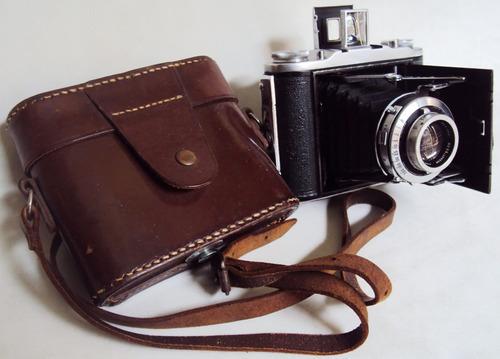 câmera fotográfica sanfonada anos 50 ensign inglesa antiga