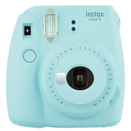 câmera fuji instax mini 9 instantanea original polaroid azul
