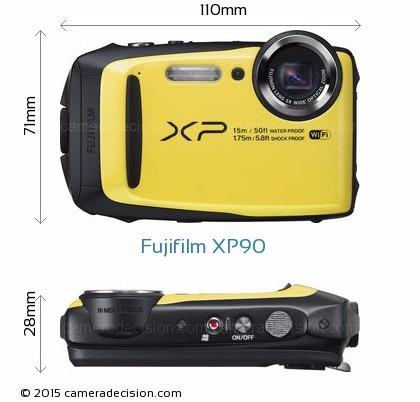 câmera fujifilm finepix xp90 à prova d'água wi-fi 16 mp+16gb
