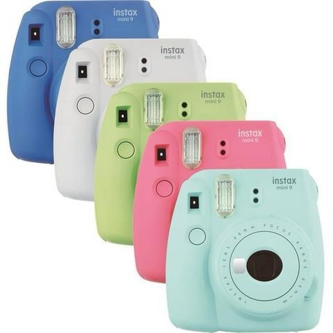 câmera fujifilm fuji instax mini 9 - varias cores