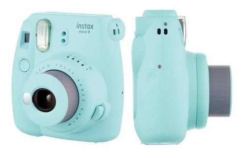 câmera fujifilm instax mini 9 azul aqua + carregador sony