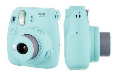 câmera fujifilm instax mini 9 azul aqua + film 20 fotos