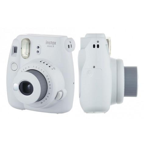 câmera fujifilm instax mini 9 branco gelo + filme 10 poses
