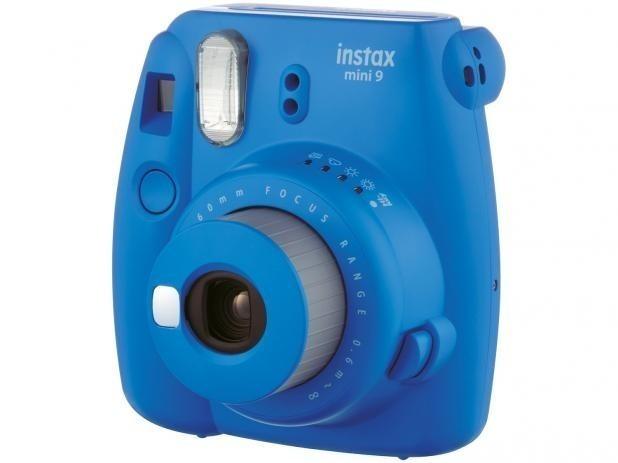 d63a12899db0b Câmera Fujifilm Instax Mini 9 Polaroid - Original Azul Nova - R  418 ...