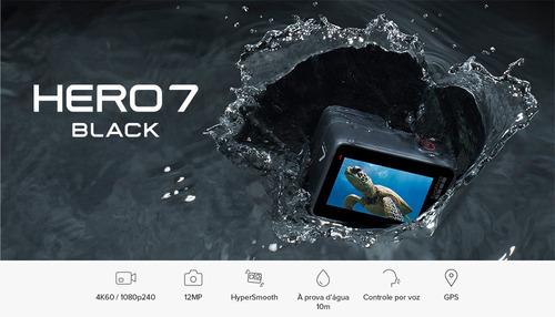 câmera go pro hero - 7 black + cartão de memoria 32gb brinde