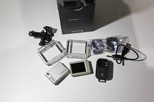 câmera gopro hero 3 black edition + acessórios