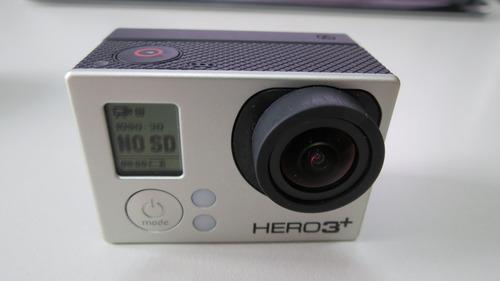 câmera gopro hero 3+ black + tela lcd + controle remoto