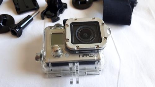 câmera gopro hero 3 silver com acessórios