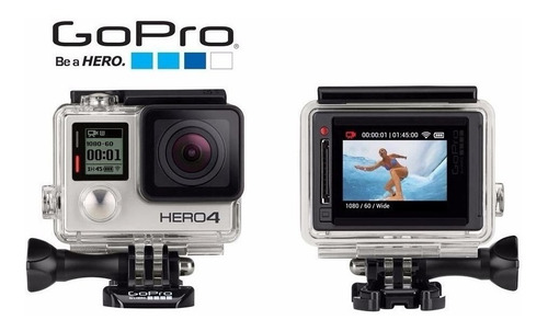 câmera gopro hero 4 silver+bastão+cartão class10 64gb