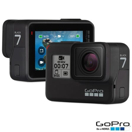 câmera gopro hero 7 black 4k digital à prova d' água