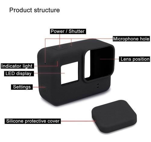 câmera gopro hero7 black + cartão ultra 64gb + case silicone