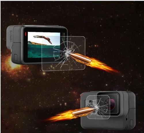 câmera  gopro hero7 black + case + tripé flexível + película