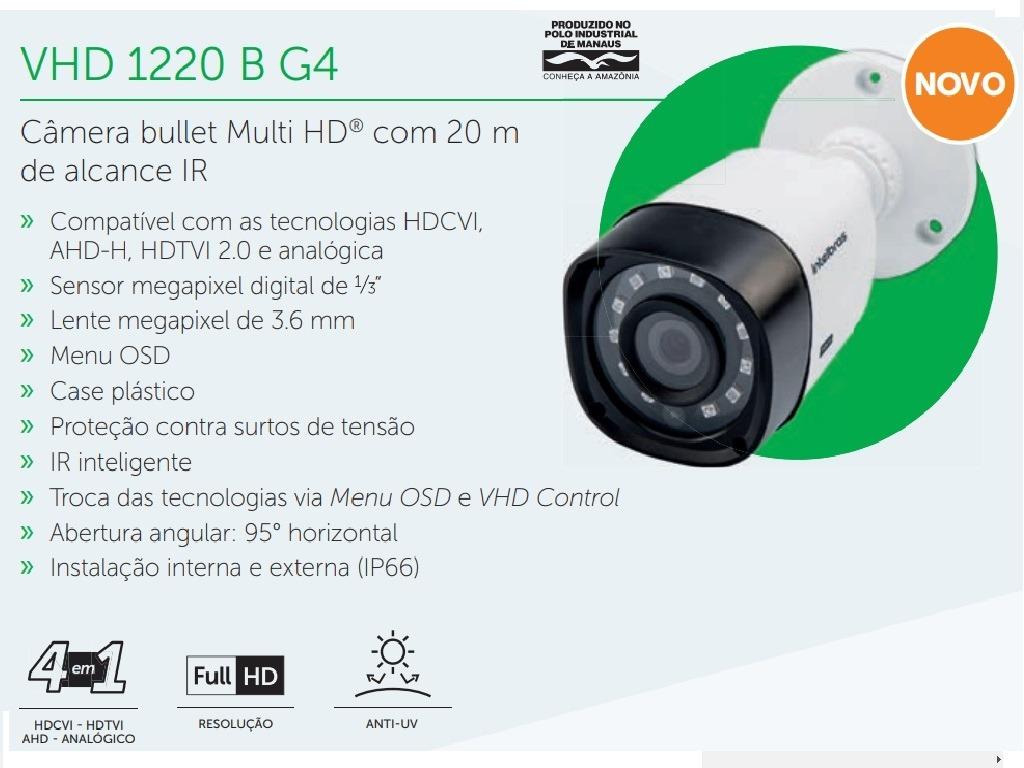 Câmera Infra 20 Mts Externa Intelbrás Vhd 1220 B Full Hd - R  158,99 ... 7ae3ed58c6