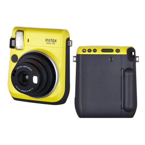 câmera instantânea fujifilm instax mini 70 + 3 acess. amarel