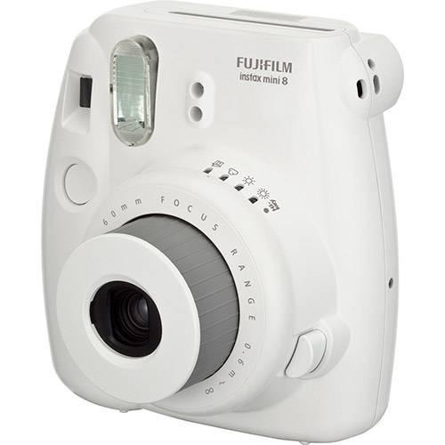 câmera instantânea fujifilm instax mini 8 (cor branca)