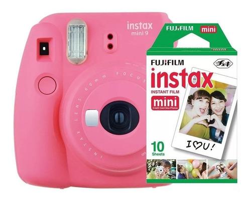 câmera instantânea fujifilm instax mini 9 + 10 fotos