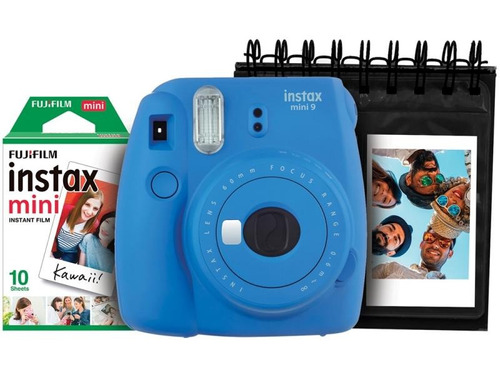 câmera instantânea fujifilm instax mini 9 cobalto