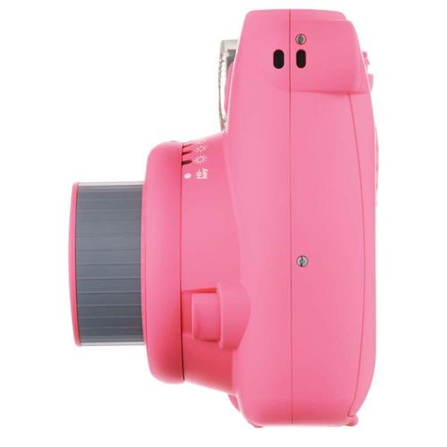 câmera instantânea fujifilm instax mini 9 rosa flamingo