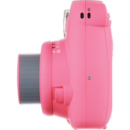 câmera instantânea fujifilm instax mini 9 rosa flamingo pink