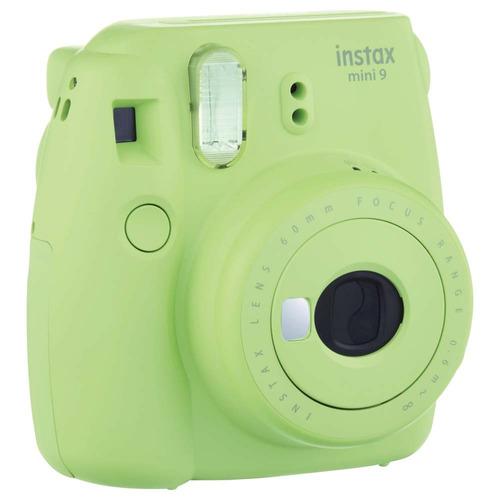 câmera instantânea fujifilm instax mini 9 - verde lima