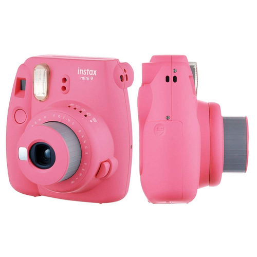 câmera instantânea instax fujifilm mini 9 rosa + 10 filmes