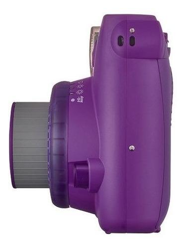 câmera instantânea instax mini 9 roxo açaí com 3 filtros