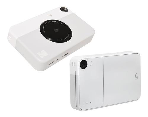 câmera instantânea kodak printomatic cinza + acessórios