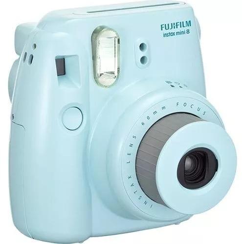 câmera instax mini 8 instantânea fujifilm - azul + filme