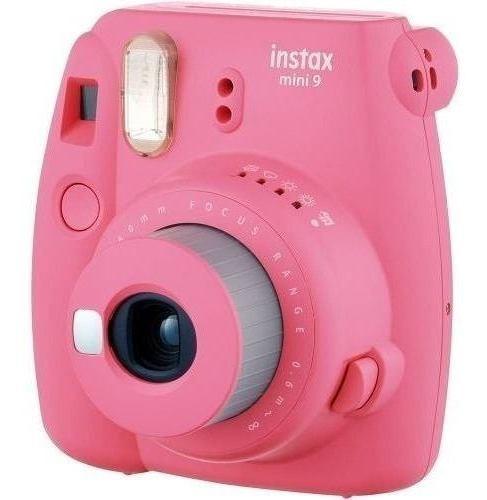 câmera instax mini 9 instantanea pink rosa flamingo fujifilm