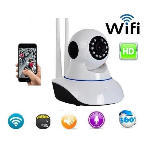 câmera ip 2 antenas 3ª geração 1.3mp wifi hd 720p segurança