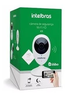 câmera ip intelbras ic3 mibo wifi hd 720p c/ cartão 16gb