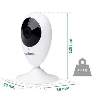câmera ip intelbras ic3 mibo wifi hd 720p micro-sd