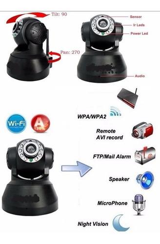câmera ip p2p wireles monitora via celular entrada cartao sd